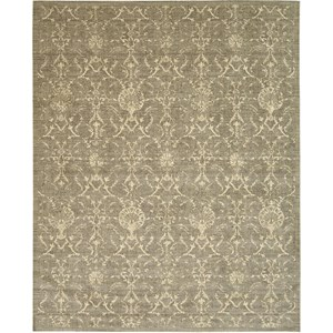 "Nourison Silk Elements 5'6"" x 8' Moss Area Rug"