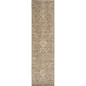 "Nourison Silk Elements 2'5"" x 10' Moss Area Rug"