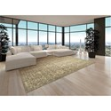 Nourison Silk Elements 12' x 15' Moss Area Rug