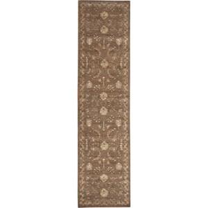 """Nourison Silk Elements 2'5"""" x 10' Cocoa Area Rug"""