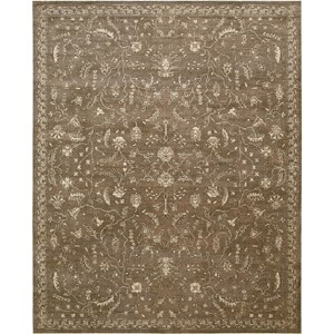 "Nourison Silk Elements 9'9"" x 13' Cocoa Area Rug"