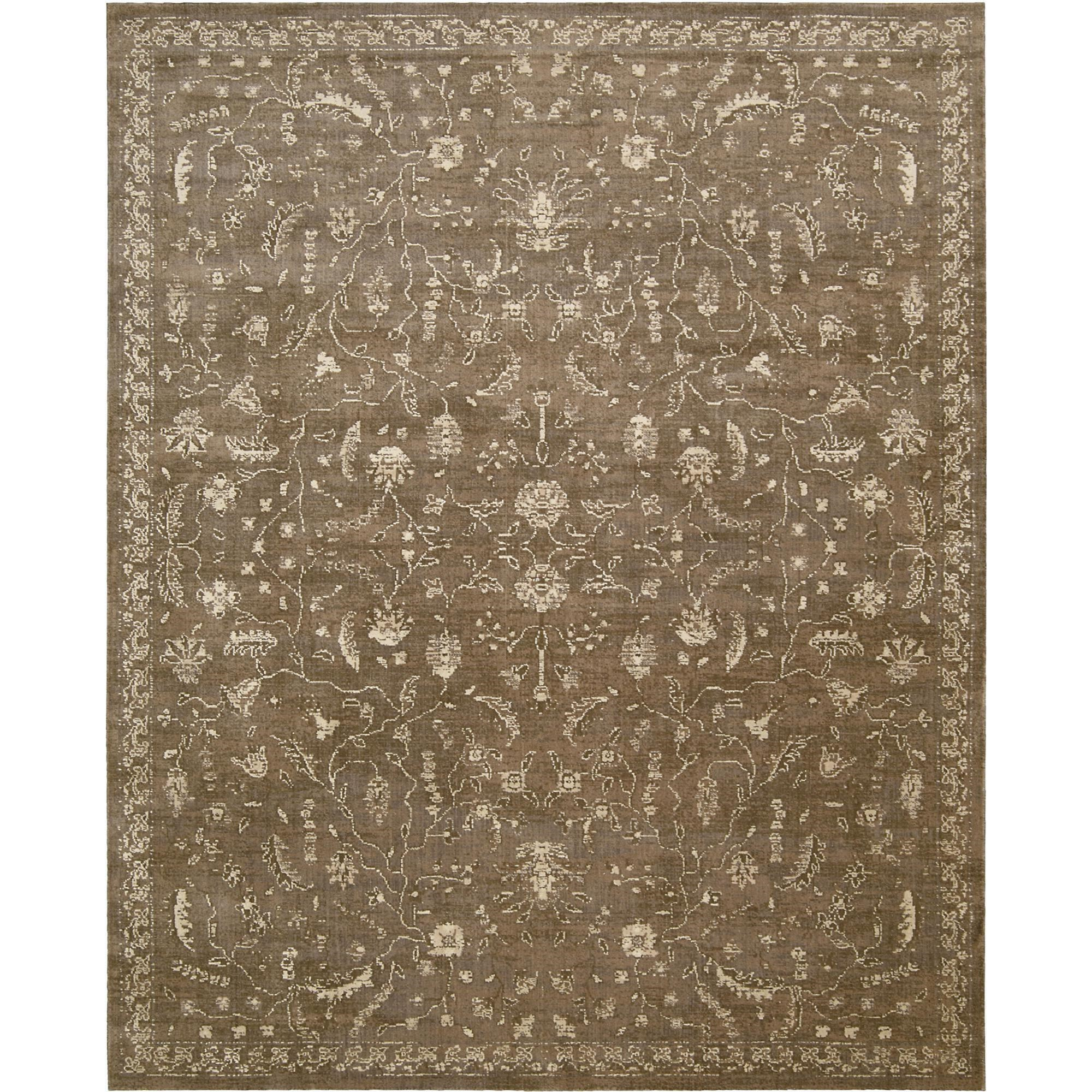 """Nourison Silk Elements 8'6"""" x 11'6"""" Cocoa Area Rug - Item Number: 18925"""