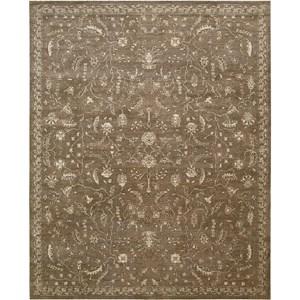 """Nourison Silk Elements 5'6"""" x 8' Cocoa Area Rug"""