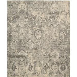 "Nourison Silk Elements 5'6"" x 8' Mushroom Area Rug"