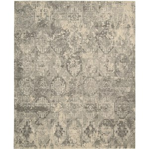 "Nourison Silk Elements 7'9"" x 9'9"" Mushroom Area Rug"