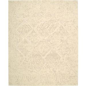 "Nourison Silk Elements 5'6"" x 8' Natural Area Rug"
