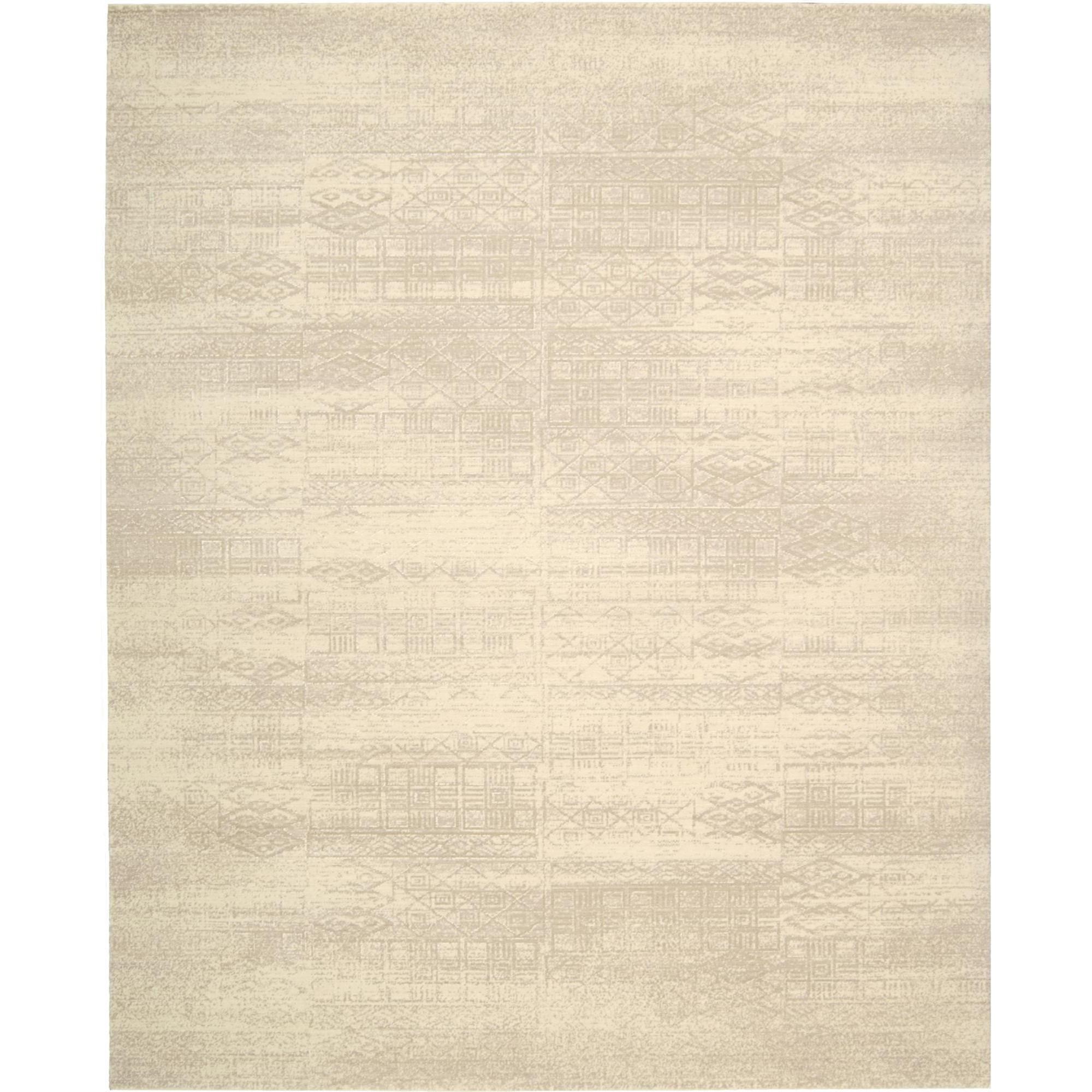 "Nourison Silk Elements 7'9"" x 9'9"" Bone Area Rug - Item Number: 29540"