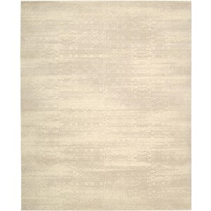 "Nourison Silk Elements 8'6"" x 11'6"" Bone Area Rug"