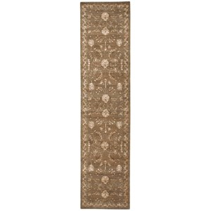 "Nourison Silk Elements 2'5"" x 10' Cocoa Runner Rug"