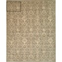 "Nourison Silk Elements 7'9"" x 9'9"" Moss Rectangle Rug - Item Number: SKE03 MOS 79X99"