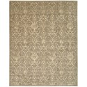 "Nourison Silk Elements 8'6"" x 11'6"" Moss Rectangle Rug - Item Number: SKE03 MOS 86X116"
