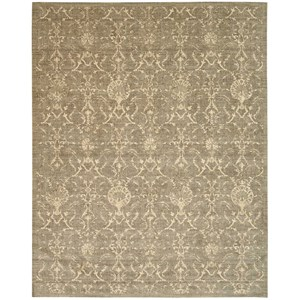 "Nourison Silk Elements 9'9"" x 13' Moss Rectangle Rug"