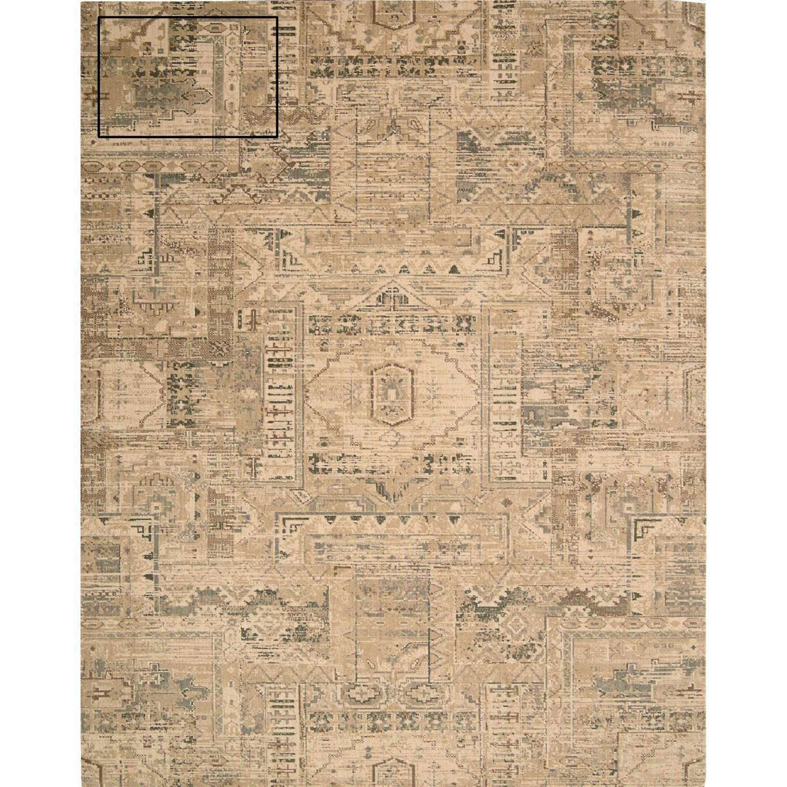 """Nourison Silk Elements 5'6"""" x 8' Beige Rectangle Rug - Item Number: SKE13 BGE 56X8"""