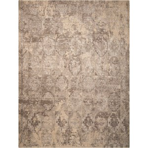 "Nourison Silk Elements 8'6"" x 11'6"" Mushroom Rectangle Rug"