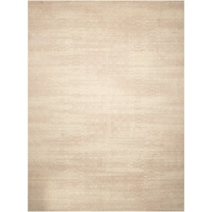 "Nourison Silk Elements 8'6"" x 11'6"" Bone Rectangle Rug"