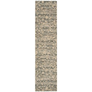 "Nourison Silk Elements 2'5"" x 10' Taupe Runner Rug"