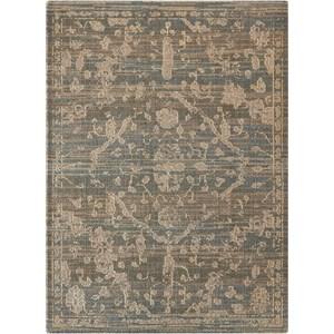 "Nourison Silk Elements 5'6"" x 8' Azure Rectangle Rug"