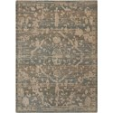 "Nourison Silk Elements 5'6"" x 8' Azure Rectangle Rug - Item Number: SKE30 AZU 56X8"