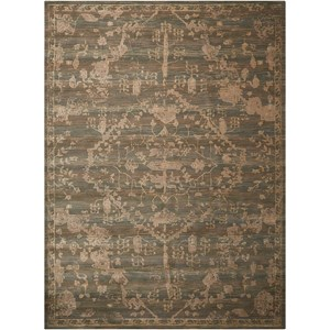 "Nourison Silk Elements 9'9"" x 13' Azure Rectangle Rug"