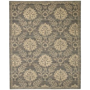 Nourison Silk Elements 12' x 15' Graphite Rectangle Rug