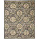 "Nourison Silk Elements 9'9"" x 13' Graphite Rectangle Rug - Item Number: SKE31 GRAPH 99X13"
