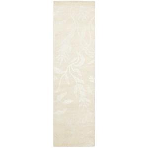 "Nourison Silk Shadows 2'3"" x 8' Ivory Runner Rug"