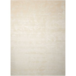 "Nourison Silk Shadows 5'6"" x 7'5"" Ivory Rectangle Rug"