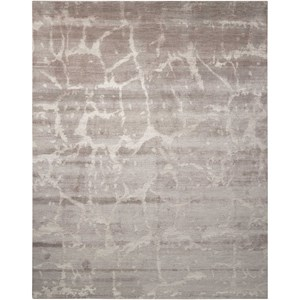 "Nourison Silk Shadows 7'9"" x 9'9"" Silver Rectangle Rug"