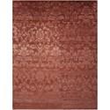 "Nourison Silk Shadows 5'6"" x 7'5"" Rust Rectangle Rug - Item Number: SHA03 RUS 56X75"