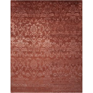 "Nourison Silk Shadows 8'6"" x 11'6"" Rust Rectangle Rug"