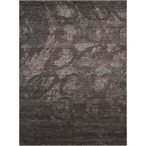 "Nourison Silk Shadows 3'9"" x 5'9"" Coal Rectangle Rug"