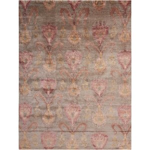 "Nourison Silk Shadows 5'6"" x 7'5"" Taupe Rectangle Rug"