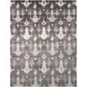 "Nourison Silk Shadows 5'6"" x 7'5"" Grey Rectangle Rug - Item Number: SHA09 GRY 56X75"