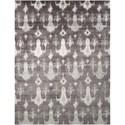 "Nourison Silk Shadows 7'9"" x 9'9"" Grey Rectangle Rug - Item Number: SHA09 GRY 79X99"