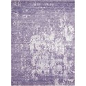 "Nourison Silk Shadows 3'9"" x 5'9"" Amethyst Rectangle Rug - Item Number: SHA10 AMETH 39X59"
