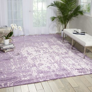 "Nourison Silk Shadows 8'6"" x 11'6"" Amethyst Rectangle Rug"