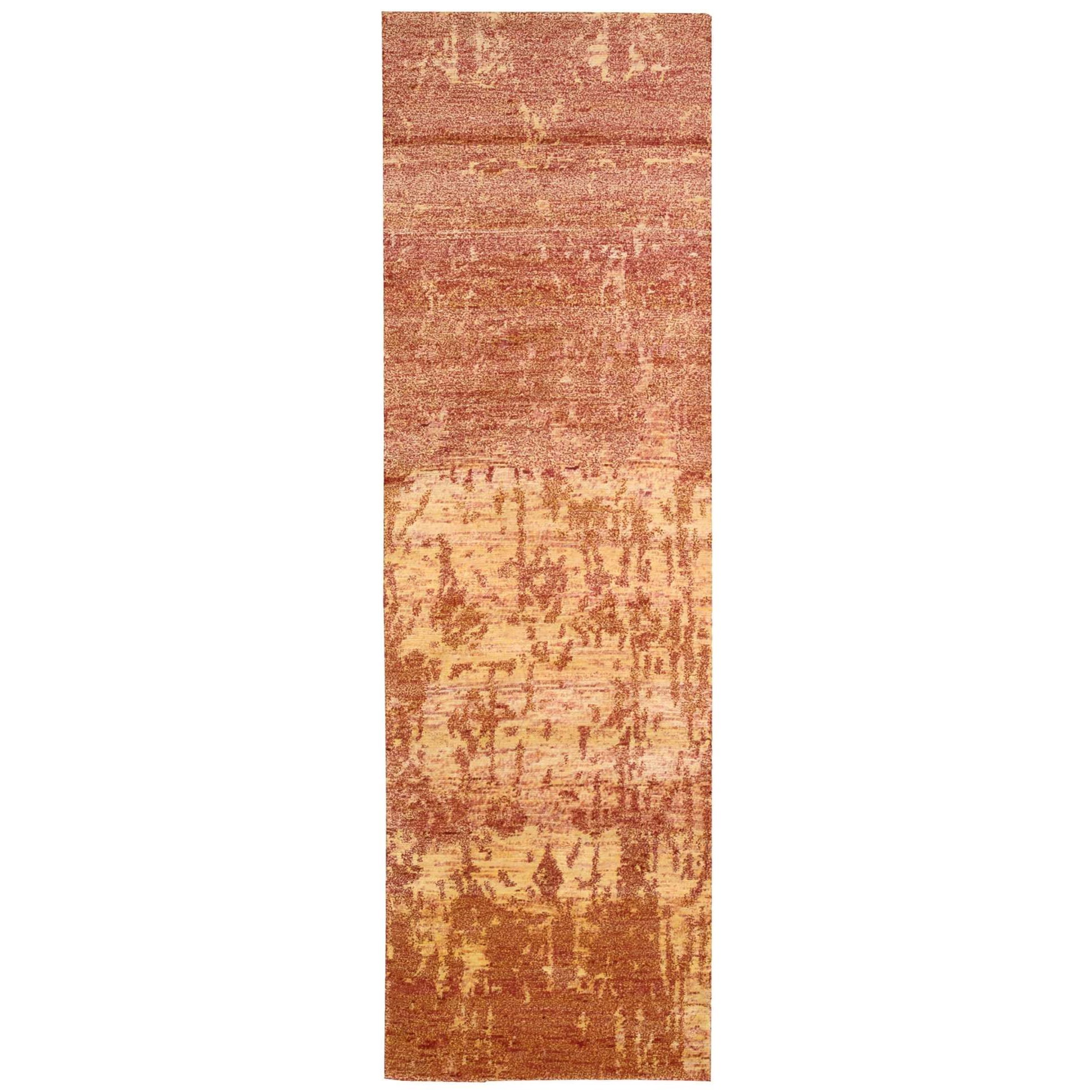 "Nourison Silk Shadows 2'3"" x 8' Flame Runner Rug - Item Number: SHA10 FLAME 23X8"