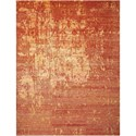 "Nourison Silk Shadows 3'9"" x 5'9"" Flame Rectangle Rug - Item Number: SHA10 FLAME 39X59"