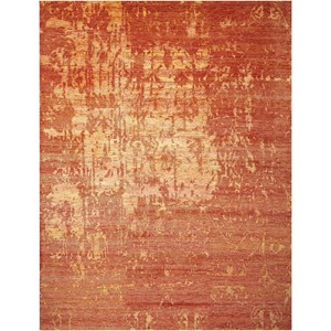 "Nourison Silk Shadows 7'9"" x 9'9"" Flame Rectangle Rug"