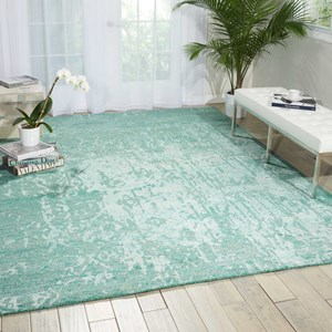 "Nourison Silk Shadows 8'6"" x 11'6"" Marine Rectangle Rug"