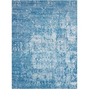 "Nourison Silk Shadows 3'9"" x 5'9"" Ocean Rectangle Rug"
