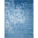 "Nourison Silk Shadows 8'6"" x 11'6"" Ocean Rectangle Rug - Item Number: SHA10 OCEAN 86X116"