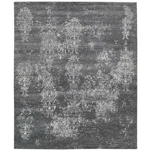 "Nourison Silk Shadows 8'6"" x 11'6"" Graphite Rectangle Rug"