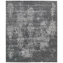 "Nourison Silk Shadows 9'9"" x 13'9"" Graphite Rectangle Rug - Item Number: SHA14 GRAPH 99X139"