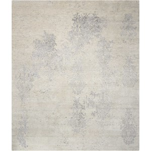 "Nourison Silk Shadows 3'9"" x 5'9"" Ivory/Silver Rectangle Rug"