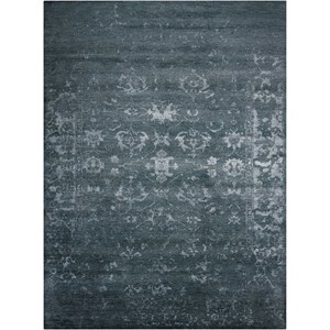"Nourison Silk Shadows 5'6"" x 7'5"" Blue Stone Rectangle Rug"