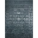 "Nourison Silk Shadows 5'6"" x 7'5"" Blue Stone Rectangle Rug - Item Number: SHA15 BLSTN 56X75"