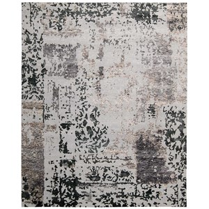 "Nourison Silk Shadows 8'6"" x 11'6"" Silver Grey Rectangle Rug"