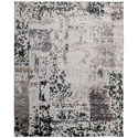 "Nourison Silk Shadows 9'9"" x 13'9"" Silver Grey Rectangle Rug - Item Number: SHA16 SILGY 99X139"