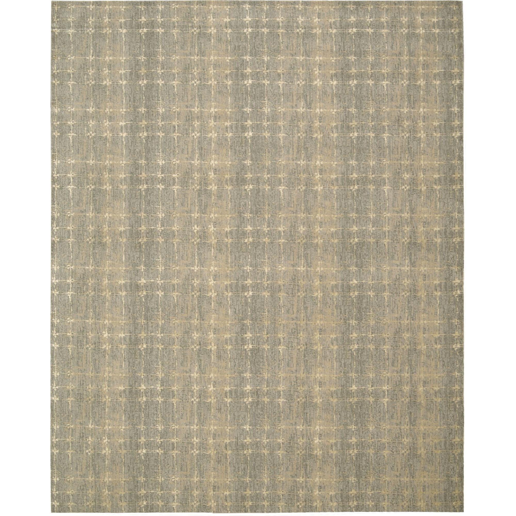 "Nourison Silken Allure 5'6"" x 8' Grey Area Rug - Item Number: 15263"
